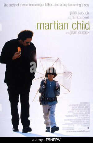 MARTIAN CHILD, from left: John Cusack, Bobby Coleman, 2007, © New Line/courtesy Everett Collection - Stock Photo