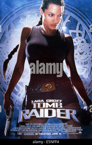 LARA CROFT: TOMB RAIDER, U.S. poster, Angelina Jolie, 2001, ©Paramount/courtesy Everett Collection - Stock Photo