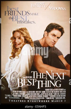THE NEXT BEST THING, US poster, from left: Madonna, Rupert Everett, 2000, © Paramount/courtesy Everett Collection - Stock Photo