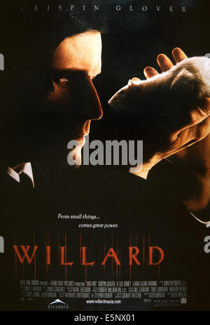 WILLARD, US poster, Crispin Glover, 2003, © New Line/courtesy Everett Collection - Stock Photo