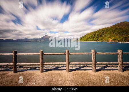 Shikotsu-Toya National Park, Japan at Lake Shikotsu. - Stock Photo