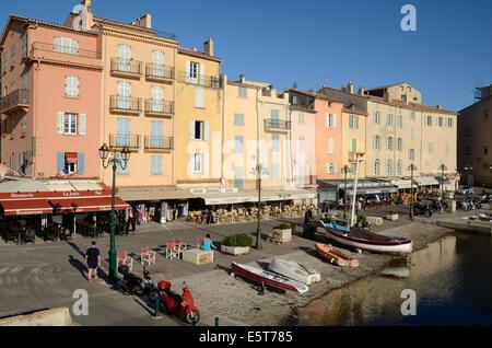 Old Port or Harbor Saint Tropez Var Côte-d'Azur France - Stock Photo