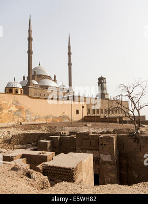 Archaeological dig excavations at the Alabaster Mosque or Mosque of Muhammad Ali Pasha, Cairo, Egypt - Stock Photo