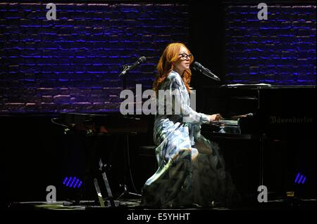 Toronto, Canada. 8th August 2014. American singer-songwriter-pianist, Tori Amos performs at Massey Hall. Credit: - Stock Photo
