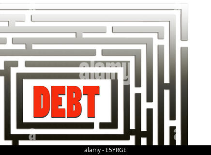 There is a way out of debt - metaphor. - Stock Photo