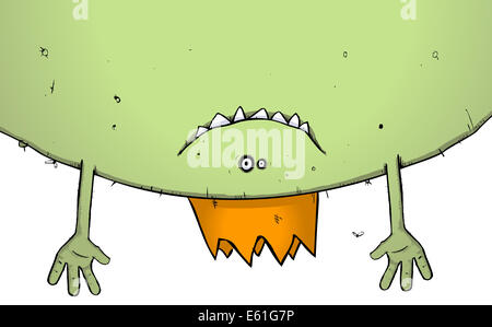 Illustration of a monster hanging about at a party - Stock Photo