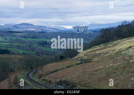 Trawsfynydd nuclear power station - Stock Photo