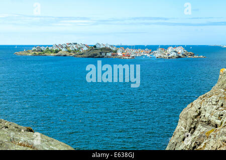 View from the island of Stora Dyrön on the island of  Åstol, Tjörn Municipality, Bohuslan, Västra Götaland County, - Stock Photo