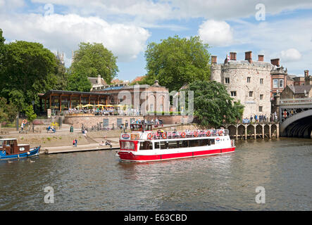 The Star Inn the City and Lendal Tower York North Yorkshire England UK United Kingdom GB Great Britain - Stock Photo