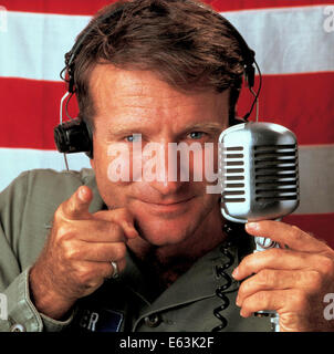 Good Morning, Vietnam is a 1987 American war-comedy film written by Mitch Markowitz and directed by Barry Levinson. - Stock Photo