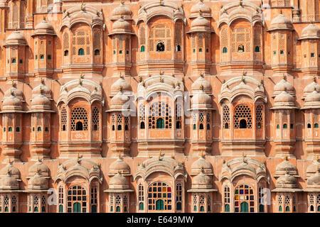 Palace of the Winds (Hawa Mahal), Jaipur, Rajasthan, India - Stock Photo