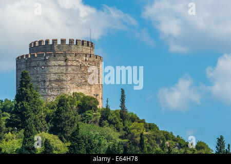 Rumeli Fortress on the banks of the Bosphorus Strait in Istanbul, Turkey. - Stock Photo