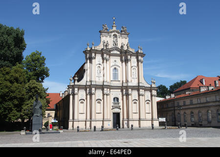 St Joseph of the Visitationists in Warsaw Old Town - Stock Photo