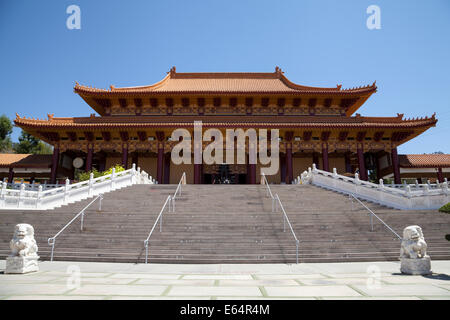 Court yard of Hsi Lai Temple, Hacienda Heights, California, USA - Stock Photo