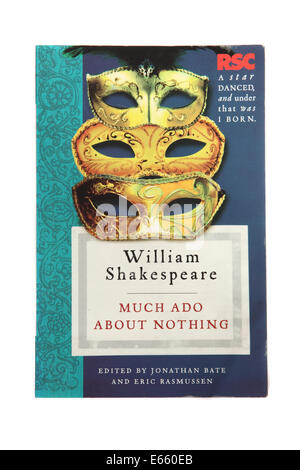The play Much ado about nothing - written by William Shakespeare - Stock Photo