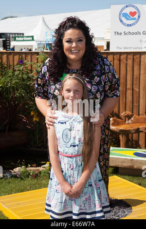 Southport, Merseyside, UK.  15th August, 2014.  Lisa Riley with Sophie Turner at  Britain's biggest independent - Stock Photo