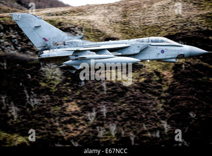 The Tornado GR4 is a variable geometry, two-seat, day or night, all-weather attack aircraft, - Stock Photo