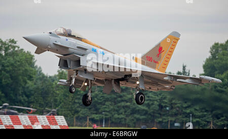 RAF Eurofighter Typhoon FGR4 6 Squadron Special on approach at the Royal International Air Tattoo - Stock Photo