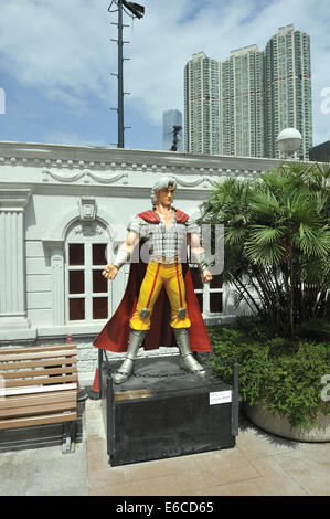 Chinese comic character 'Nan Gong Wen Tian', Hong Kong Avenue of Comic Stars, Kowloon Park, Tsim Sha Tsui, Hong - Stock Photo