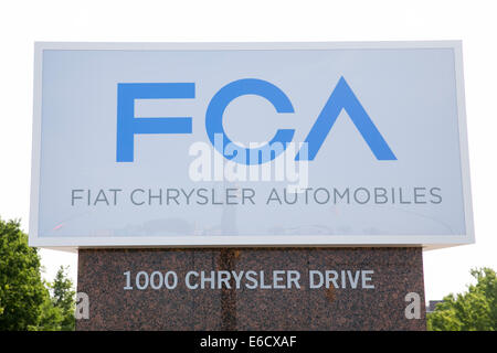 The headquarters of Chrysler Group LLC in Auburn Hills, Michigan. - Stock Photo