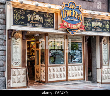 Taverna Andorra, La Vella Andorra, Principality of Andorra - Stock Photo