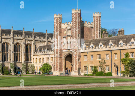 Close view of part of the historic Trinity College, founded by King Henry VIII in 1546, University of Cambridge, - Stock Photo
