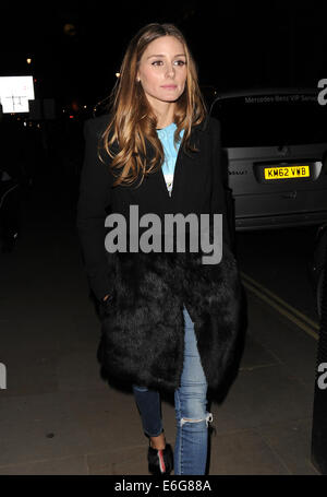 Celebraties arriving to view Matthew Williamson Autumn and Winter Collection fashion show.  Featuring: Olivia Palermo - Stock Photo