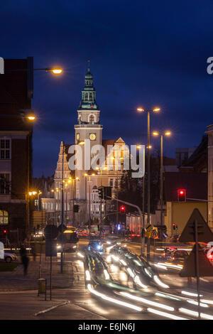 The Town Hall in Olsztyn Poland - Stock Photo
