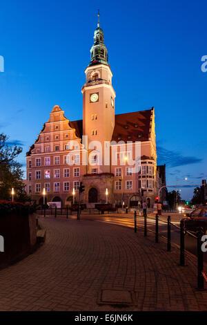 Town Hall in Olsztyn Poland - Stock Photo