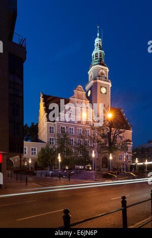 Town Hall in Olsztyn Warmia Poland - Stock Photo