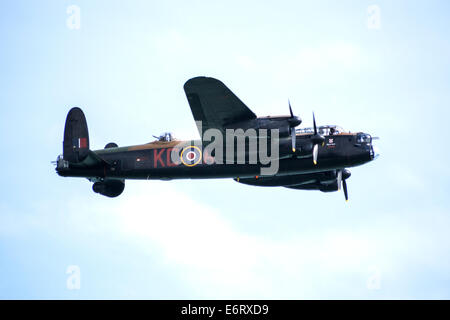 Avro Lancaster World War Two bomber of the Canadian Warplane Heritage Museum at Eastbourne Airshow - Stock Photo