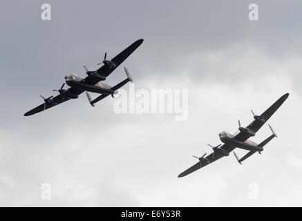 Avro Lancaster of the Battle of Britain memorial flight PA474 is currently painted to represent Lancaster DV385, - Stock Photo