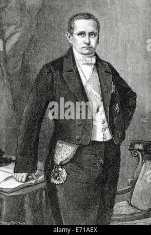 Otto Theodor von Manteuffel (1805-1882). Conservative Prussian statesman, serving nearly a decade as prime minister. - Stock Photo
