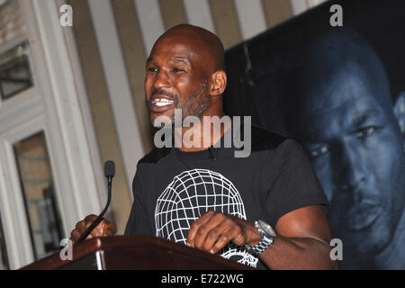 Bernard Hopkins during a press conference at the Waldorf-Astoria hotel to promote a planned Saturday, Nov. 8, 12 - Stock Photo