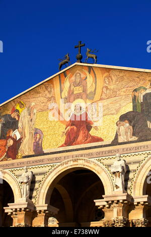 Basilica of The Agony, Garden of Gethsemane, Jerusalem, Israel, Middle East - Stock Photo