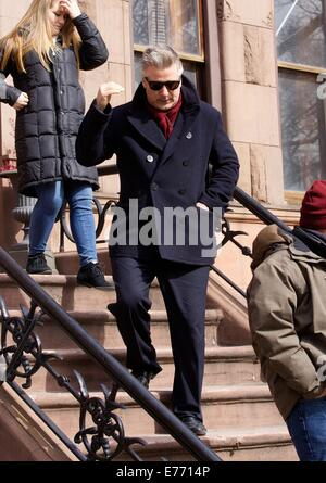 Celebrities on the set of 'Still Alice' shooting on location in Manhattan  Featuring: Alec Baldwin Where: New York - Stock Photo