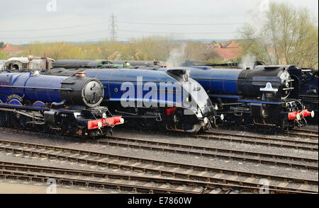 'Once in a Blue Moon' event at Didcot Railway Centre, home of the Great Western Society. - Stock Photo