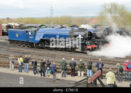 'Once in a Blue Moon' event at Didcot Railway Centre, the home of the Great Western Society. - Stock Photo