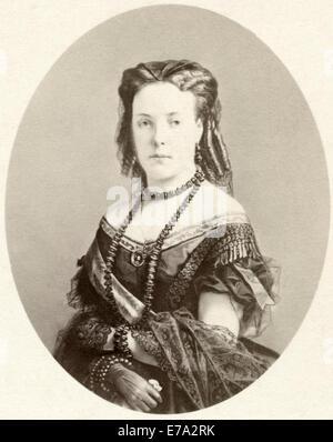 Marie Henriette of Austria (1836-1902), Queen Consort of King Leopold II of Belgium, Portrait, circa 1860's - Stock Photo