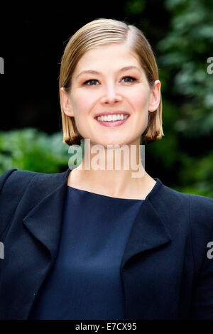 Rosamund Pike attending the 'Gone Girl' photocall at Hotel De Russie. Rome on Septmber 12, 2014 - Stock Photo