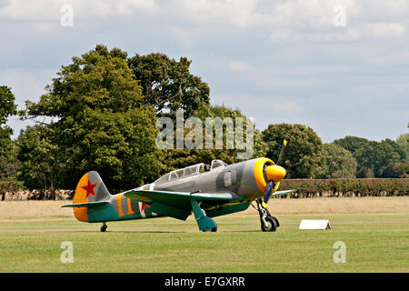 Harvard IV G-GBPB aircraft seen at Headcorn, Kent - Stock Photo