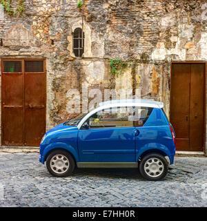 City car seen in Rome, Italy. - Stock Photo