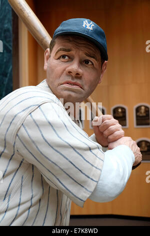 National Baseball Hall of Fame Museum at Cooperstown New York - Stock Photo