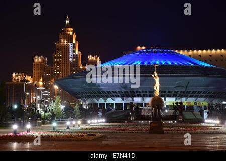 A night view of the circus in Astana, Kazakhstan - Stock Photo