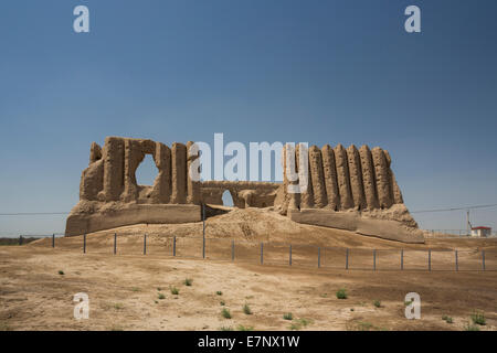 Ancient, Kyz- Kala, Merv, Turkmenistan, Central Asia, Asia, archaeology, architecture, big, city, culture, history, - Stock Photo