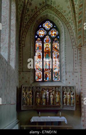 Maria Church (c. 1230-1280), Sigtuna, Sweden 140811_61960 - Stock Photo