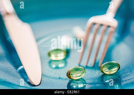 Dietary supplements. - Stock Photo