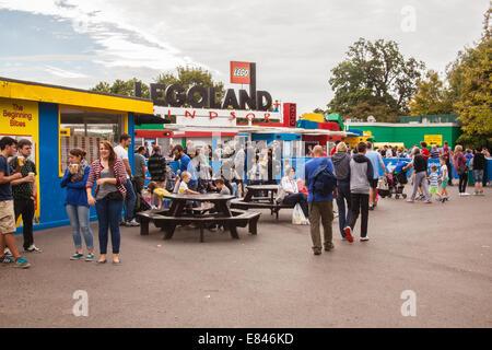 Entrance to Legoland, Windsor, Berkshire, United Kingdom - Stock Photo