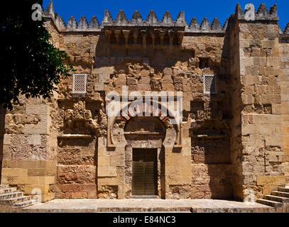 Entrance to the 10th Century Mezquita Mosque, Cordoba City, Province of Cordoba, Andalucia, Spain - Stock Photo