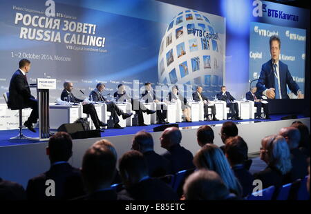 Moscow, Russia. 1st October, 2014.At the 6th VTB Capital Investment Forum 'Russia Calling', at the Moscow World - Stock Photo